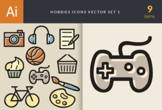 Hobbies Icons Vector Set 1 Vector packs ball
