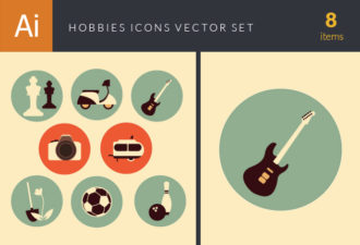 Hobbies Icons Vector Set 2 Vector packs ball