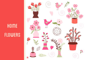 Home Sweet Home Vector Set 1 Vector packs nature