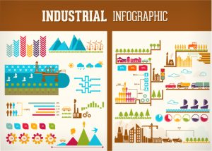 Industrial Infographic Vector Infographics sea