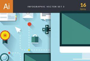 Infographic Vector Set 3 Infographics ribbon