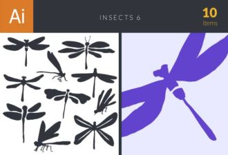 Insects Vector Set 6 Vector packs insects