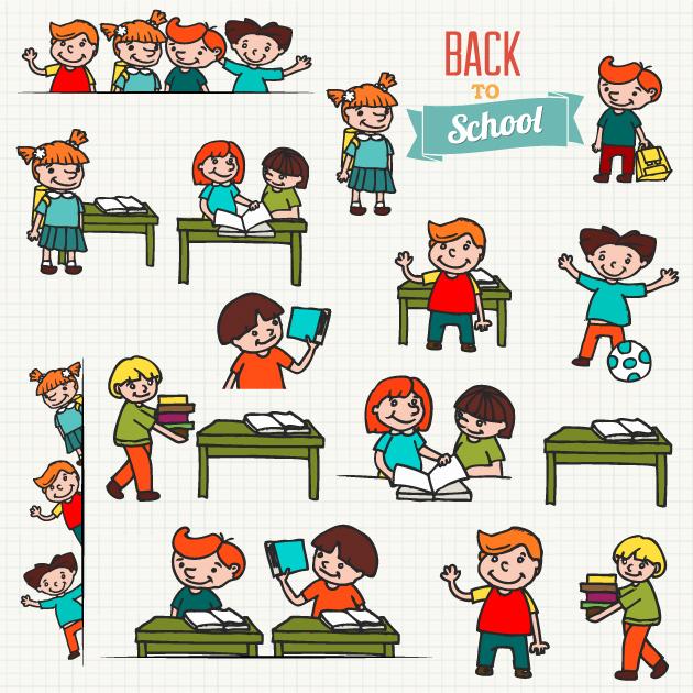 Kids School Vector Set 1 6
