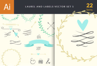 Laurel and Labels Vector Set 5 Vector packs [tag]