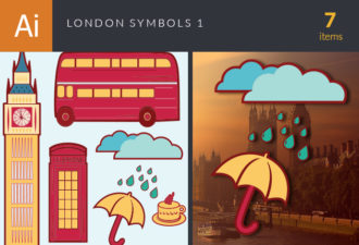 London Symbols Vector Set 1 Vector packs umbrella
