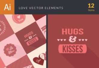 Love Elements Vector Vector packs LOVE