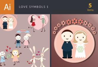 Love Symbols Vector Set 1 Vector packs Editor's Picks – Love