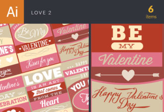 Love Vector Set 2 Vector packs LOVE