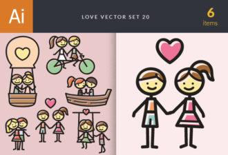 Love Vector Set 20 Vector packs people