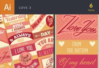 Love Vector Set 3 Vector packs LOVE
