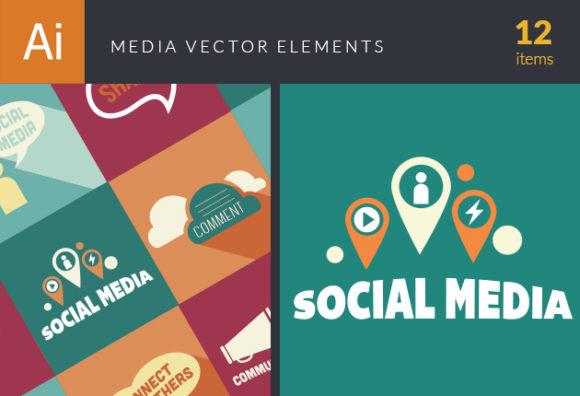 Media Elements designtnt media elements vector small