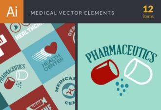 Medical Elements Vector packs flat