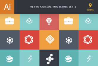 Metro Consulting Icons Vector packs bag