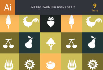 Metro Farming Icons 2 Vector packs tree