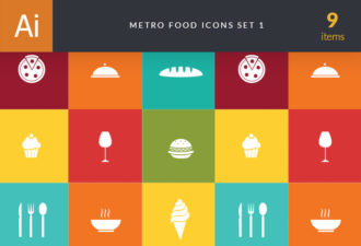 Metro Food Icons 1 Vector packs glass