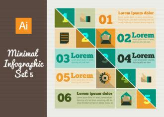 Minimal Vector Infographics Set 5 Infographics flat