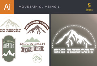 Mountain Climbing Vector Set 1 Vector packs nature