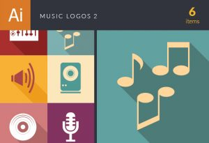 Music Logos Vector 2 Vector packs microphone