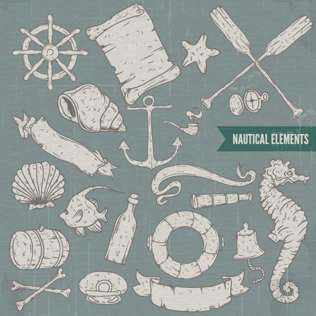 Nautical Vector Elements Set 2 Vector packs [tag]