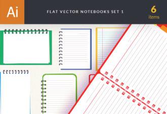 Notebook Mock-ups Set Vector packs abstract