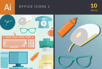 Office Icons Vector Set 1 Vector packs mouse
