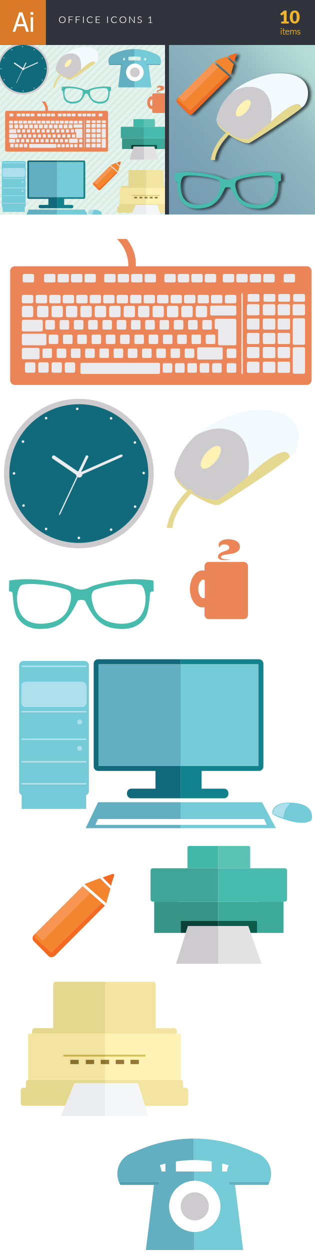 Office Icons Vector Set 1 6