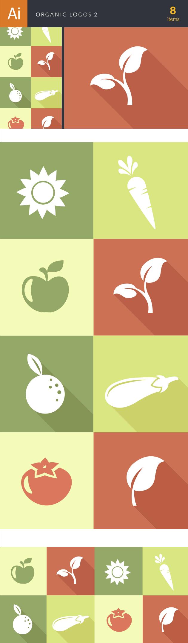 Organic Logos Vector 2 designtnt organic logos vector 2 vector large
