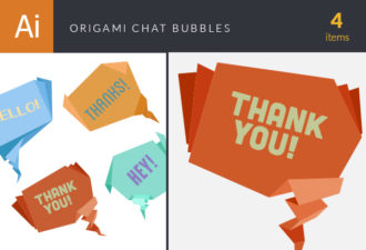 Origami Chat Bubbles Vector packs abstract