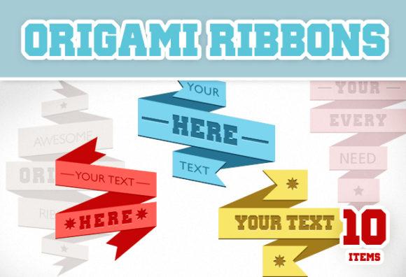 Origami Vector Ribbons Vector packs ribbon