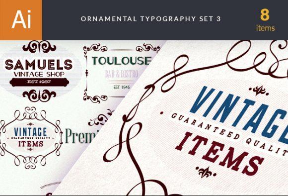 Ornamental Typography 3 Vector packs vintage
