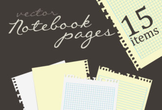 Pages of Notebook Vector Vector packs abstract