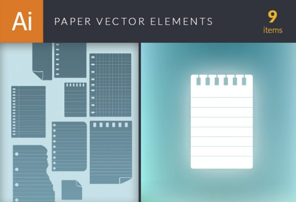 Paper Vector Elements Set 1 Vector packs abstract