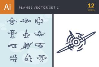 Planes Vector Set 1 Vector packs airplane