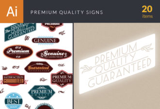 Premium Quality Signs 2 Vector packs retro