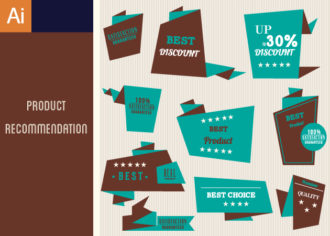 Product Recommendations Vector Set 1 Vector packs satisfaction