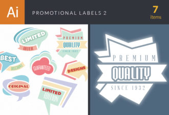 Promotional Labels Vector Set 2 Vector packs abstract