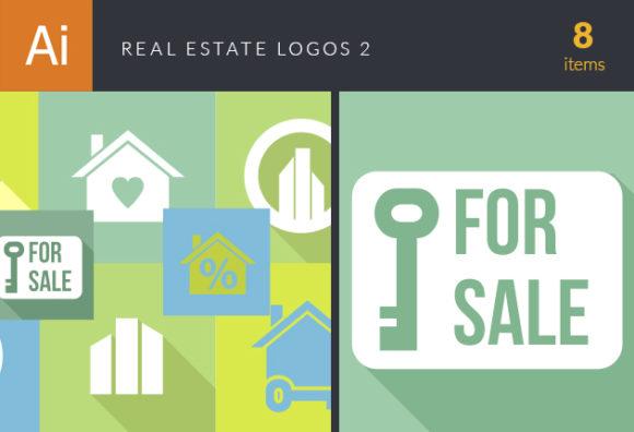 Real Estate Logos Vector 2 5