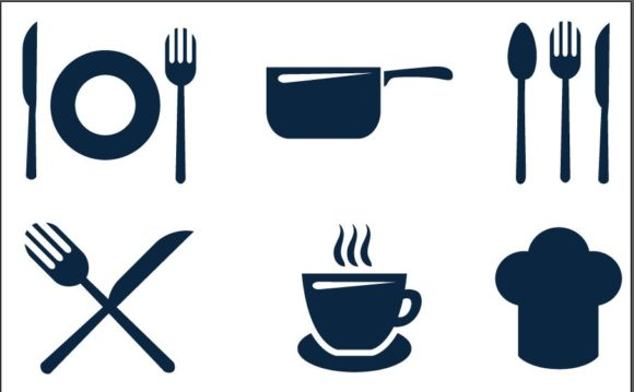 Restaurant Icons Set 4 Vector packs Pan