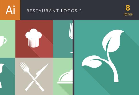 Restaurant Logos Vector 2 Vector packs glass
