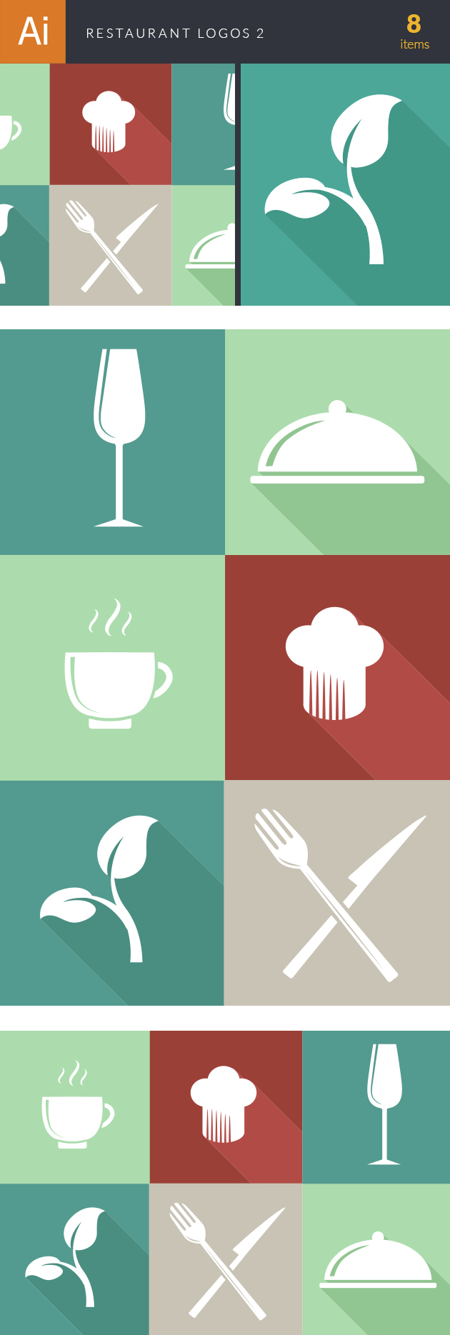 Restaurant Logos Vector 2 designtnt restaurant logos vector 2 vector large