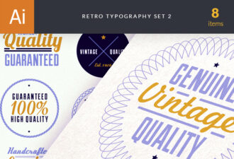 Retro Typo 2 Vector packs vintage