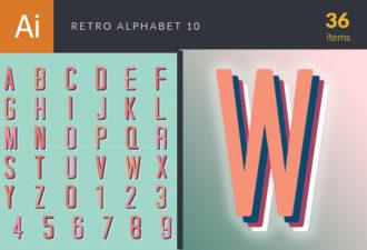 Retro Typo Vector Set 10 Vector packs retro