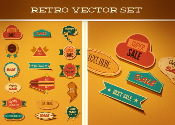 Retro Vector Set 2 5