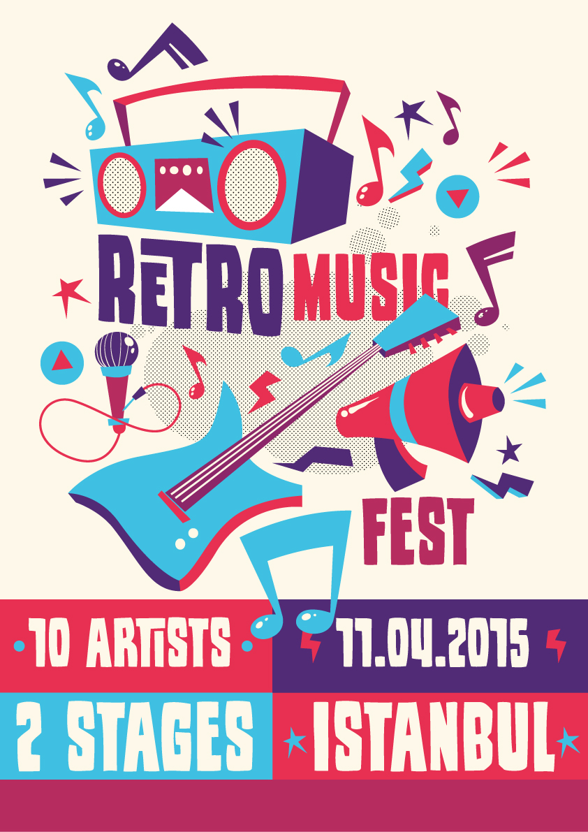 Retro Music Poster Vector 6