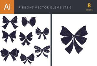 Ribbons Vector Elements Set 2 Vector packs ribbon