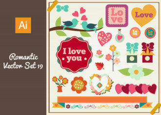 Romantic Vector Set 19 Vector packs building