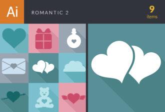 Romantic Vector Set 2 Vector packs heart
