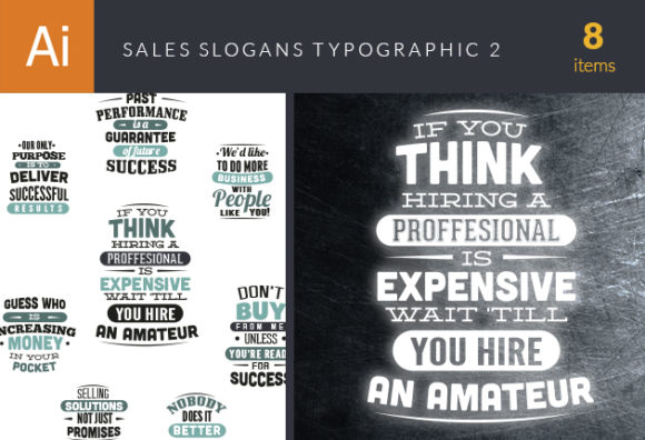 Sales Slogans Typographic Elements 2 5