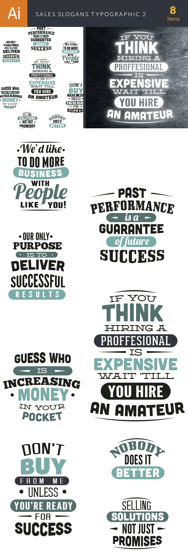 Sales Slogans Typographic Elements 2 6