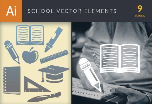 School Vector Elements Set 1 Vector packs broom